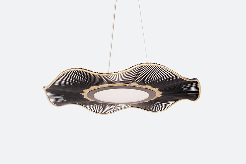 Hotel Project Modern Iron Small Pendant Light Simple lines Chandelier Lamp