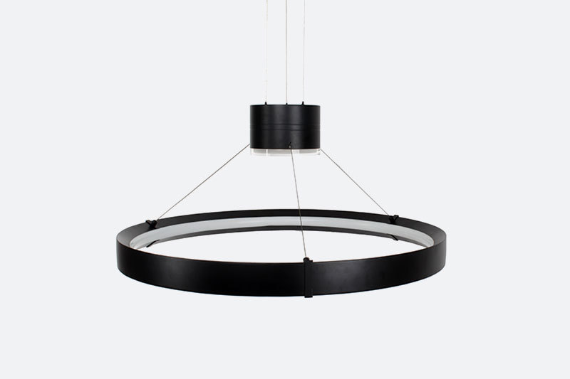 Fancy Modern Acrylic Circle Pendant lights Contemporary Ring Chandeliers fixture round hotel circular led modern pendant lighting