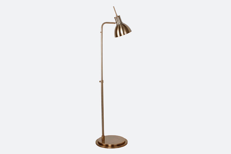 UL CUL Listed Hotel Copper Adjustable Iron Floor Standard Lamps With Switch