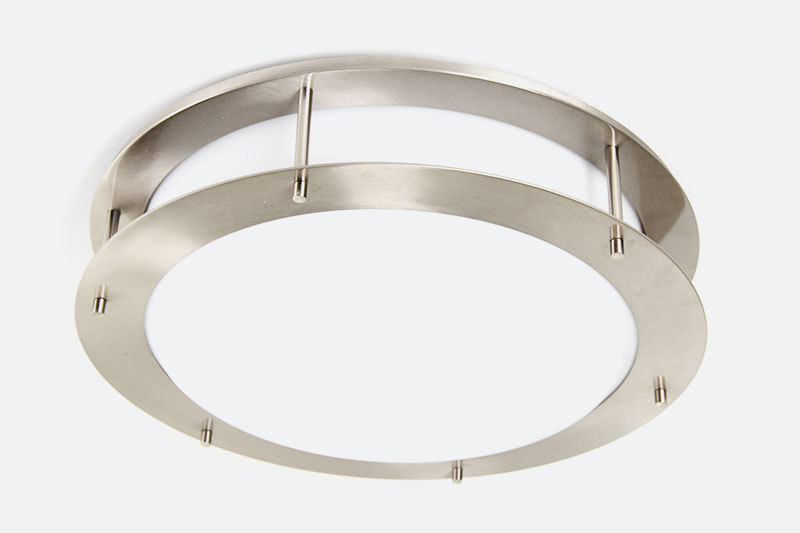 Modern home 12 inch opal glass brushed nickel flush mounted hotel contemporary ceiling lights