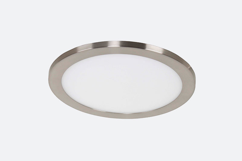 Round Ultra thin satin nickel shinning led white ceiling lights panel pot 24W