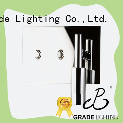 Stainless steel side wall lights with double light source