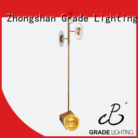 Fashion LED 3 light large standard floor lamp 65 inch for living room adjustable 15W warm light