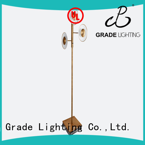 Fashion LED 3 light large standard floor lamp 65 inch for living room adjustable 15W warm light