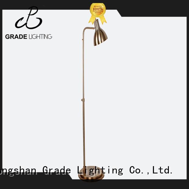brass standard floor lamp from China for livingroom