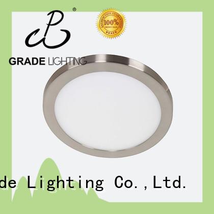 Round Ultra thin satin nickel shinning led white ceiling lights panel pot 24W