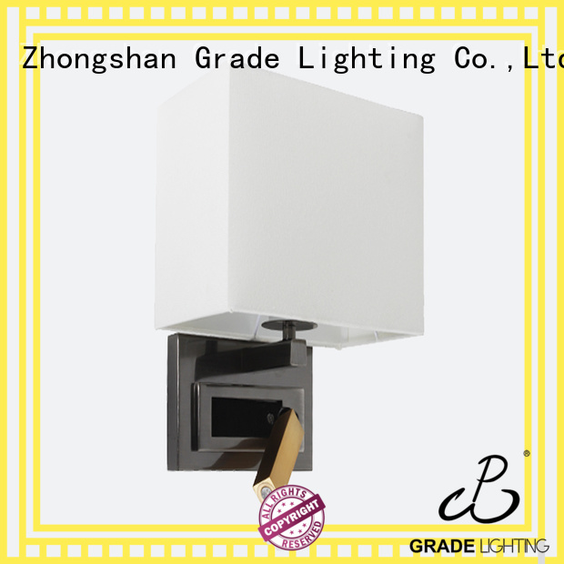Grade hotel wall lamp factory price for bedroom